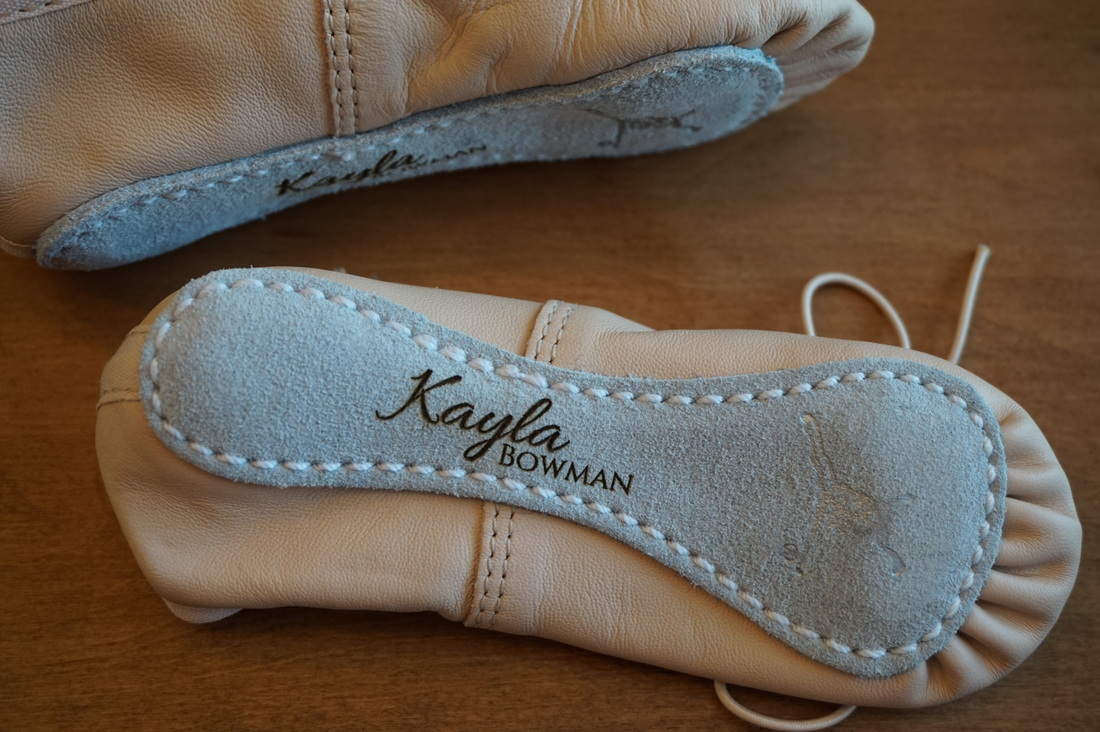 Laser engraved / personalized ballet slippers